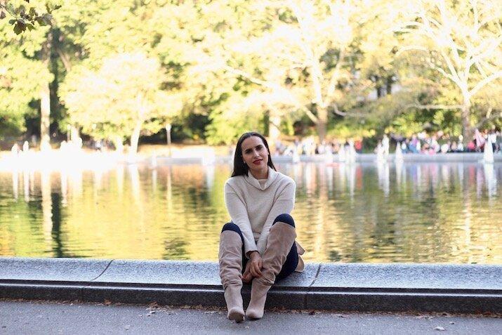 fall fashion neutrals central park