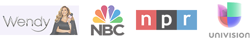 Logos of TV shows Mercedes Sanchez has appeared on